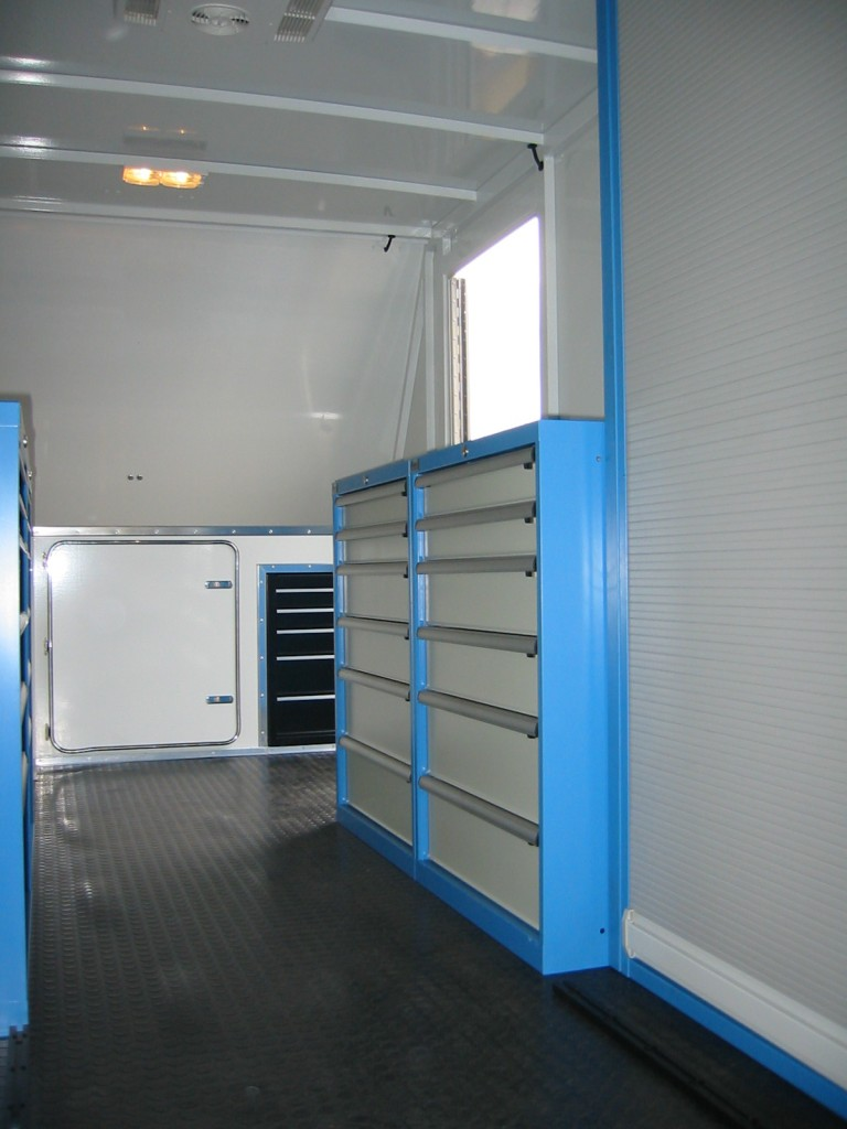 Interior of Stunt Trailer