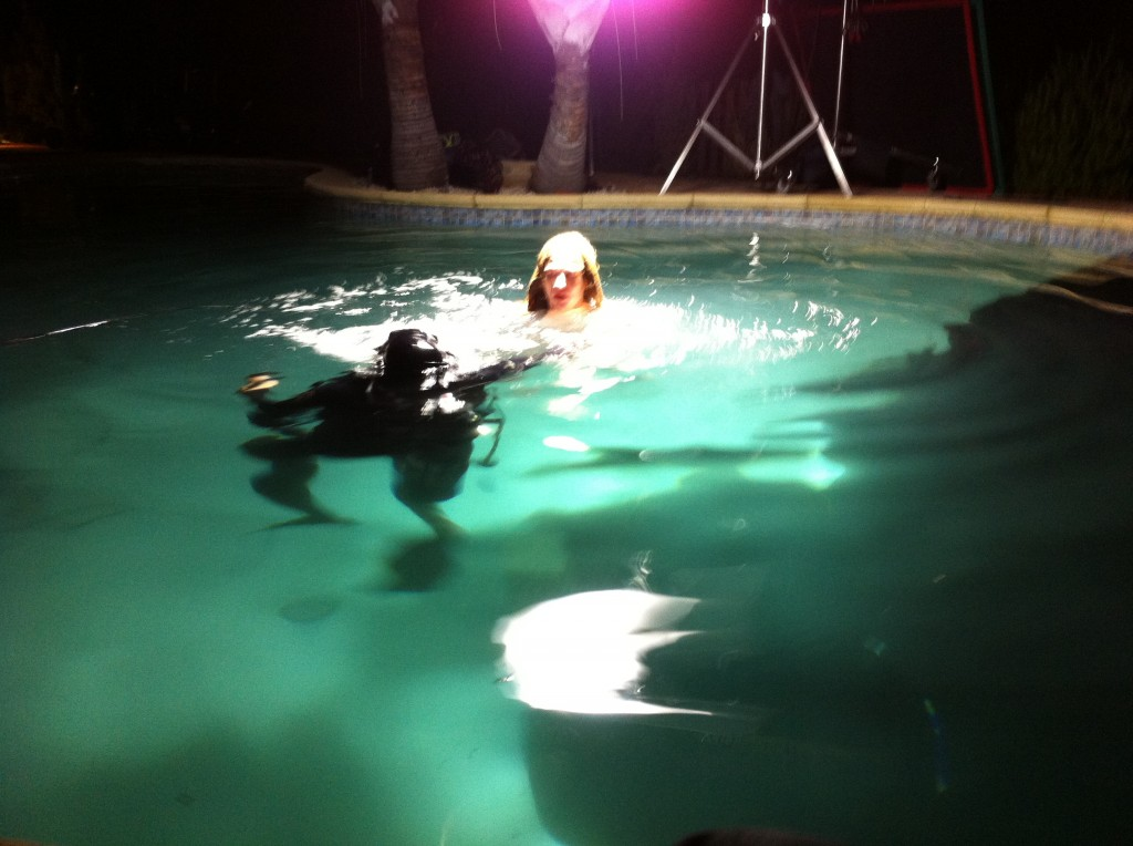 Water Safety Tim Soergel with Stunt women Jessica Harbeck