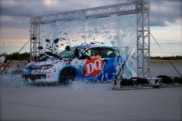 Stunt Driver Chris Nielsen Crashing through Plate Glass