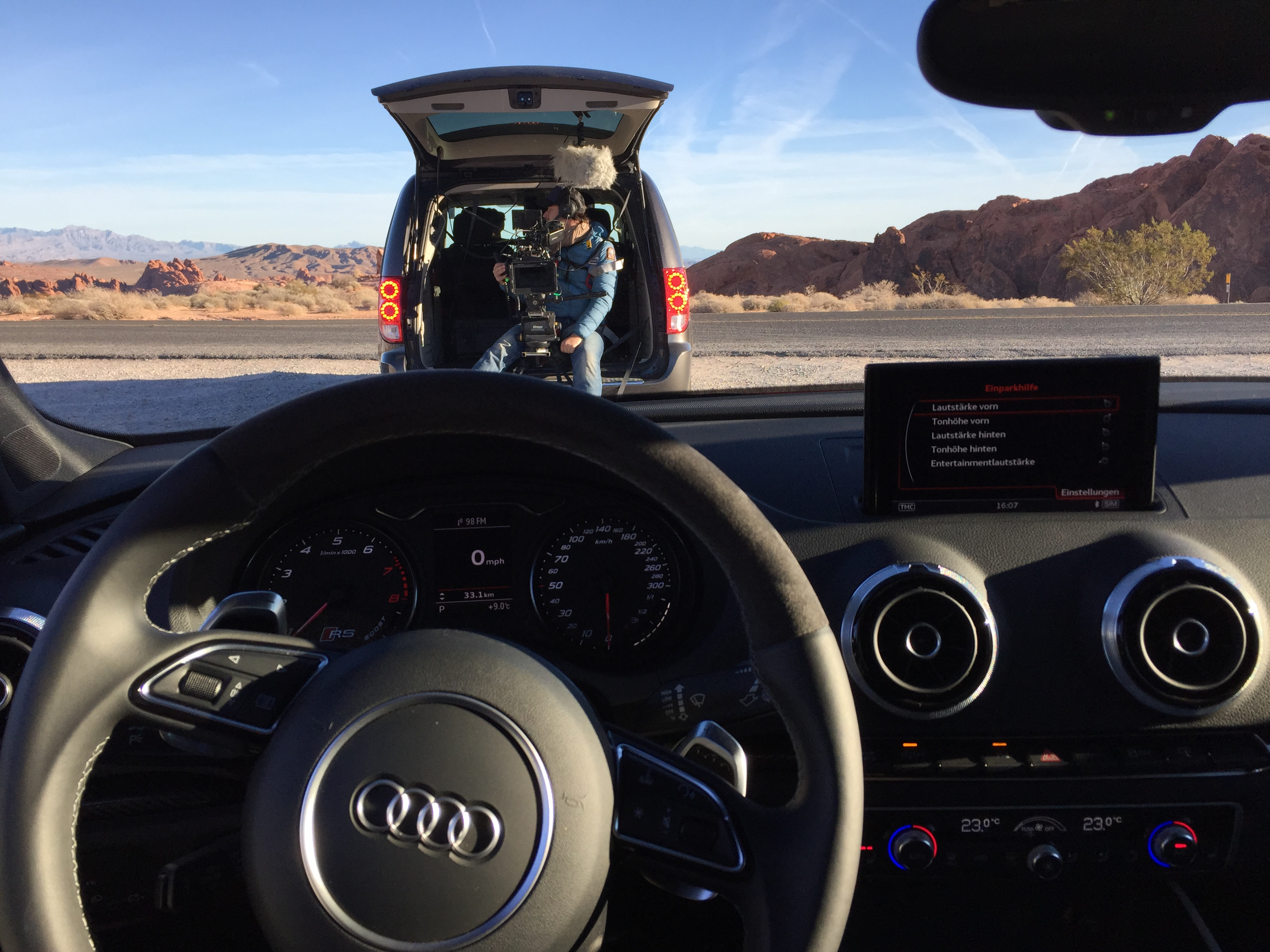 Stunt Driving Audis RS Car Commercial In Valley Of Fire Nevada - Audi car commercial