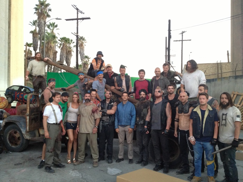 Cast and Stunt Crew for a scene on Chuck Hank and San Diego Twins