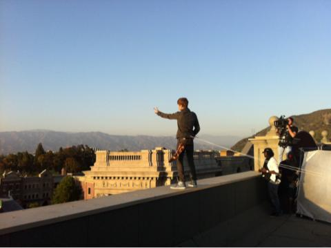 Justin Beiber Safety Wire on Ledge
