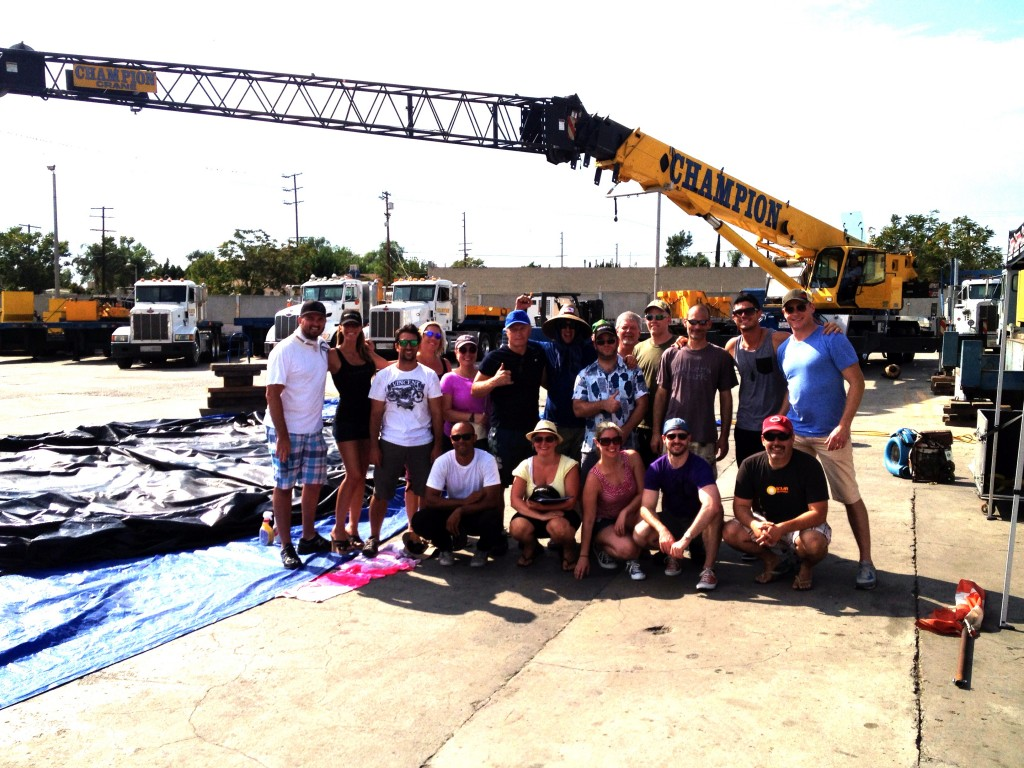 T-Minus Stunt Team with Blueman Group Team at Stunt Test