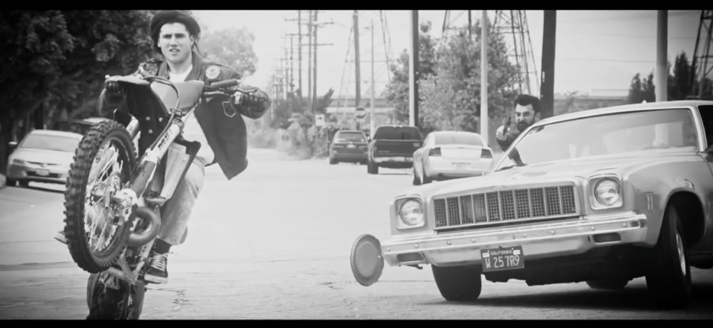 Stuntman Wyatt Carnel getting chased by Stuntmen Oliver Keller and Ray Siegle