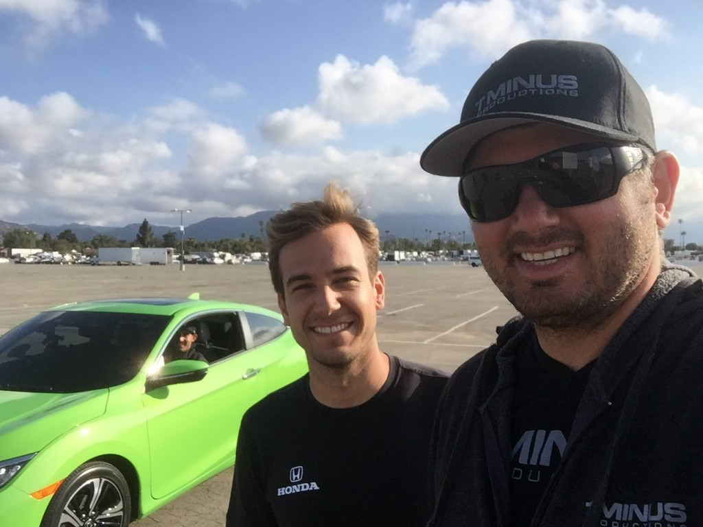 Stunt Coordinator TJ White from T Minus Productions and Stunt Driver Matt Powers